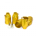 Aluminium BC (B22) Brass Colour Lampholders 10mm Entry Earthed Packs of 5